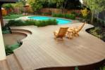 above ground pool deck furniture ideas
