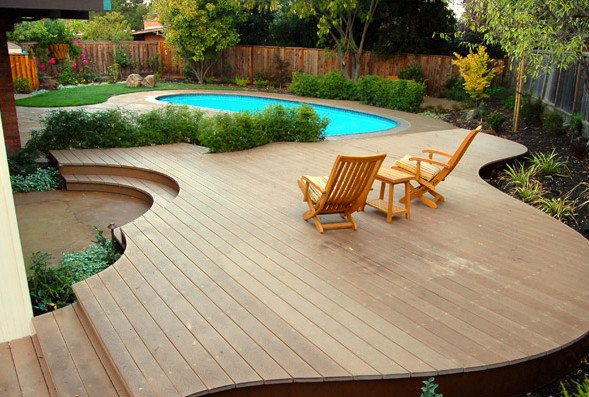 Above ground pool deck furniture ideas pool design ideas for Pool deck design plans