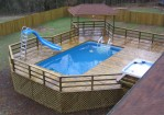 Above Ground Pool Slide Ideas
