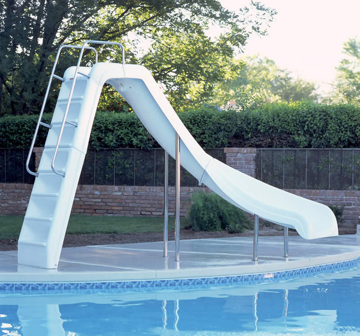 Above Ground Swimming Pool Slides Pool Design Ideas