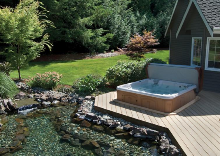 Backyard Designs With Spa