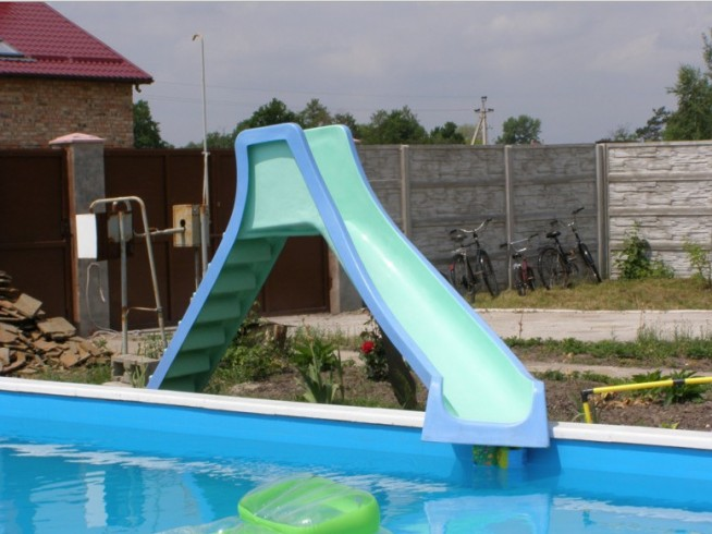 Backyard Pool Water Slides