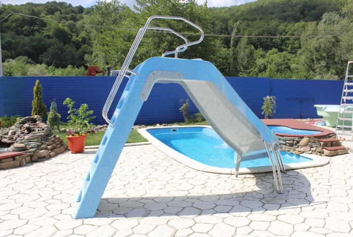 Backyard Pools With Slides