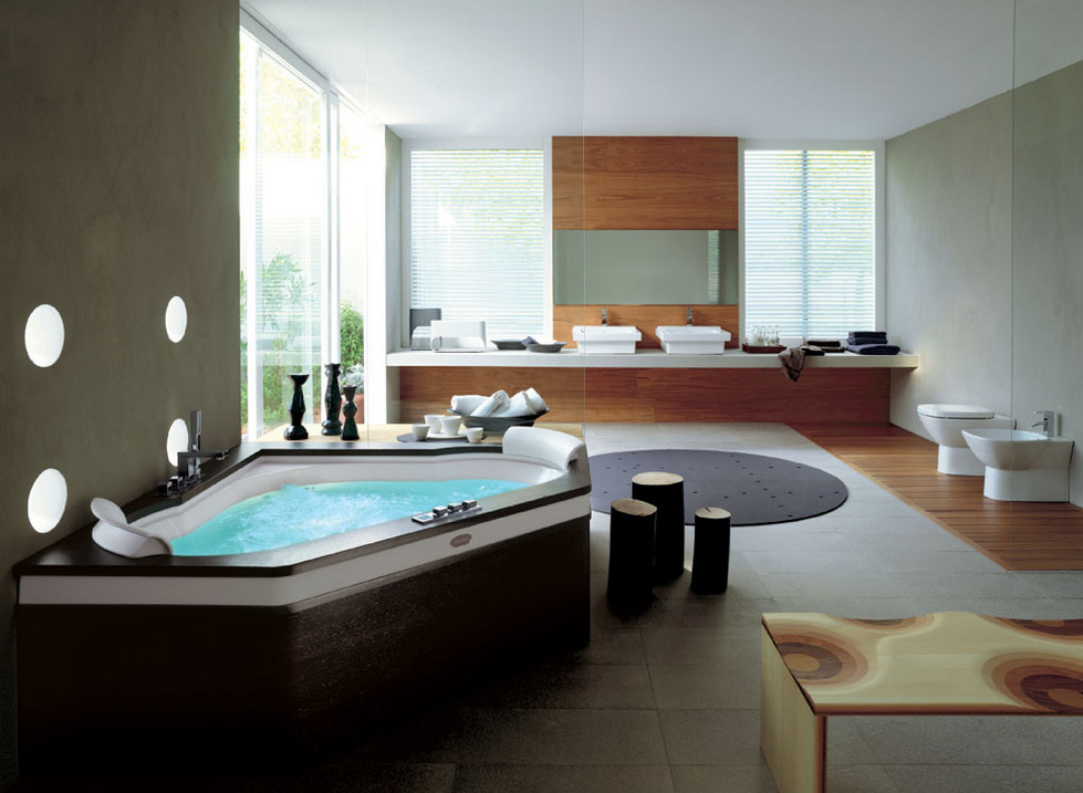 Bathroom Jacuzzi Tub Shower Pool Design Ideas - Bathroom with jacuzzi and shower designs