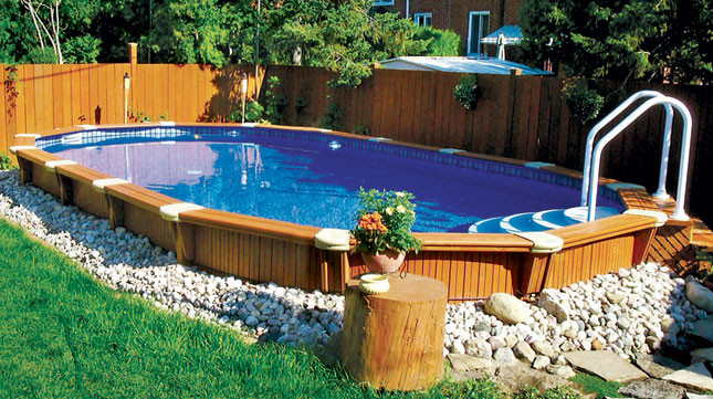 Above ground pool ideas joy studio design gallery best for Semi inground swimming pools