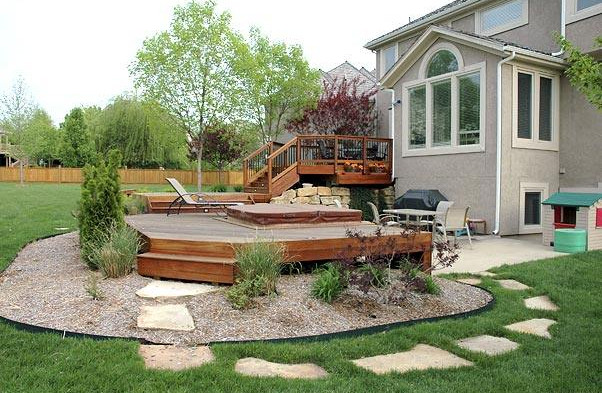 covered hot tub decks