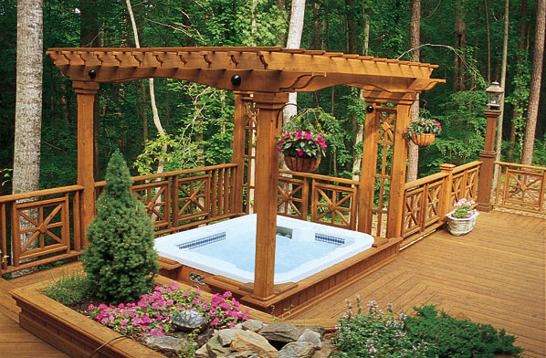 deck and hot tub design ideas