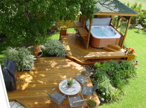 Deck and hot tub designs pool design ideas for Spa deck design