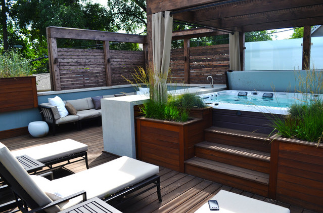 Deck Designs With Hot Tubs Pictures | Pool Design Ideas