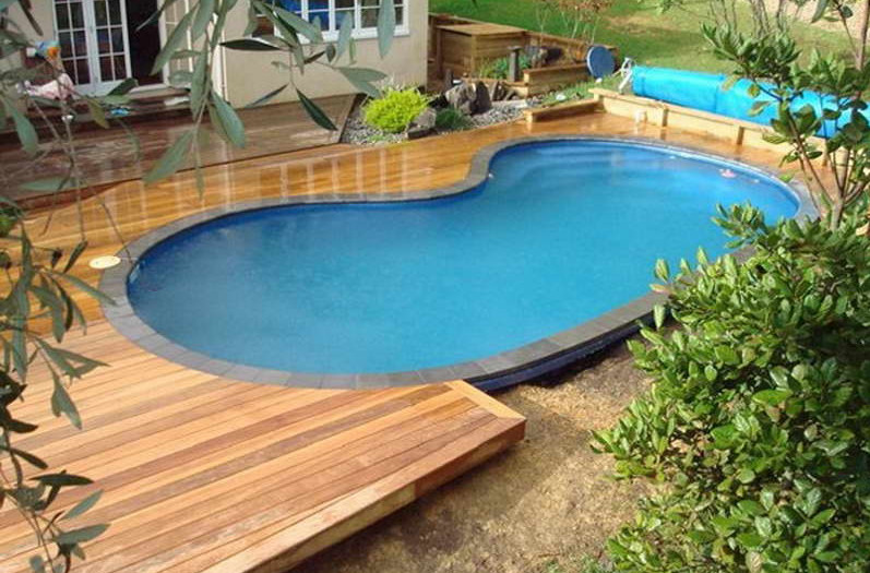 Deck pools semi inground pools pool design ideas - Above ground composite pool deck ...