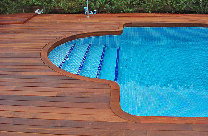 decks for inground pools pool design ideas