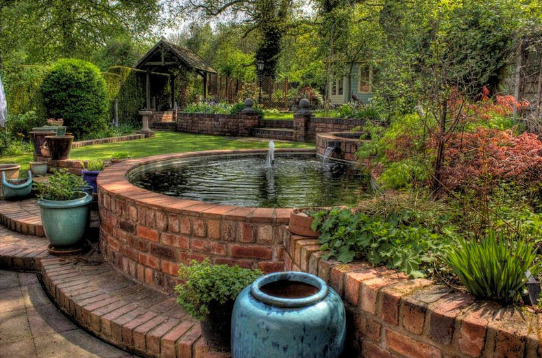 Diy garden water features pool design ideas for Backyard water fountain ideas