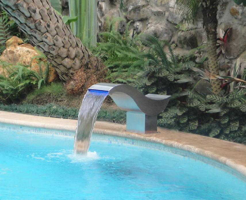 Diy Pool Fountain Ideas Design
