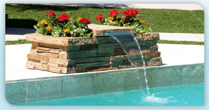 diy pool waterfall pool design ideas
