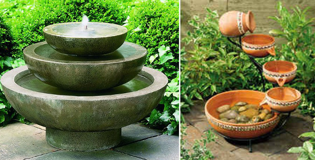 Small Fountain Designs | Pool Design Ideas
