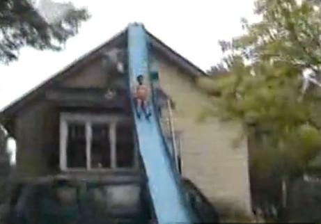 Home Made Pool Slide