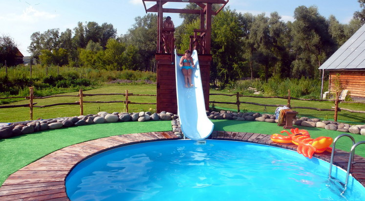 Home swimming pool slides pool design ideas for Swimming pool slides