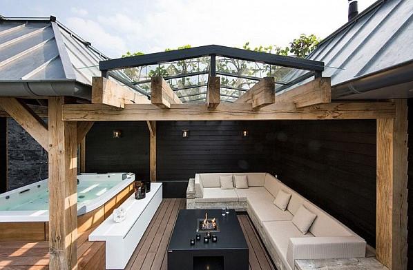 hot tub deck images