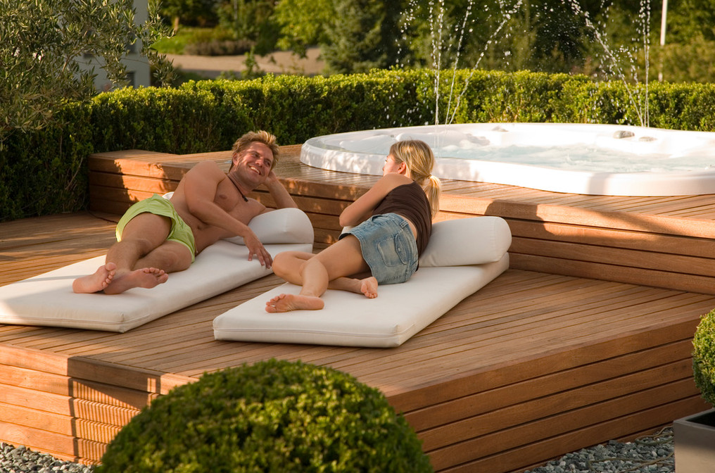 hot tub outdoor ideas