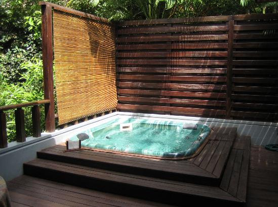 decking design ideas hot tub images
