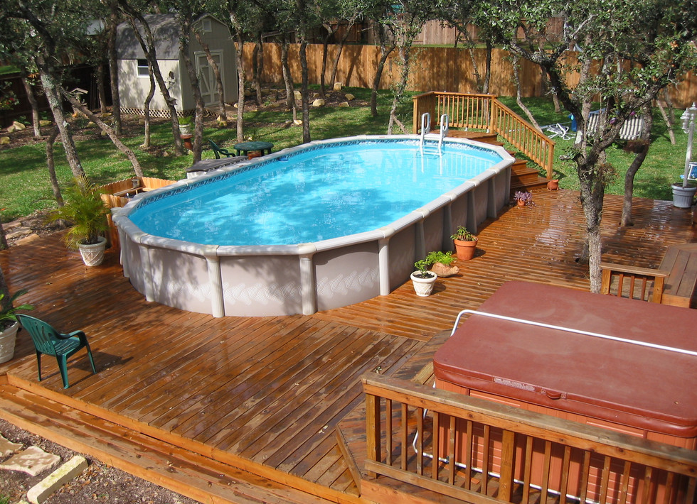 Inground And Above Ground Pools Pool Design Ideas