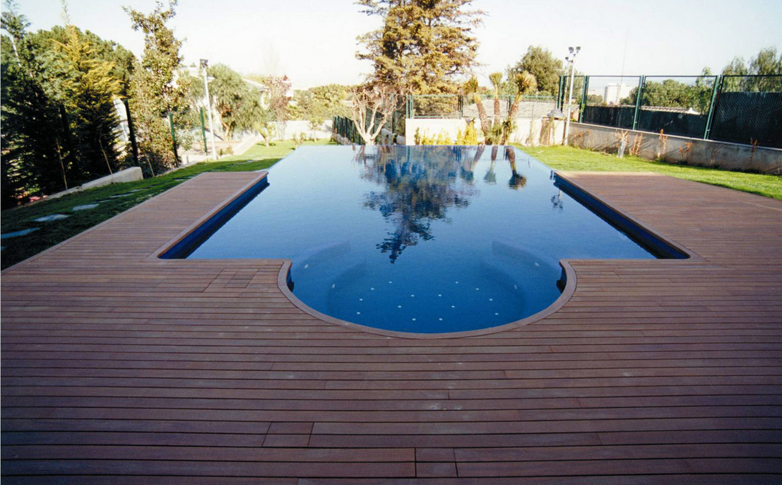 Inground pool decks pool design ideas - Above ground composite pool deck ...