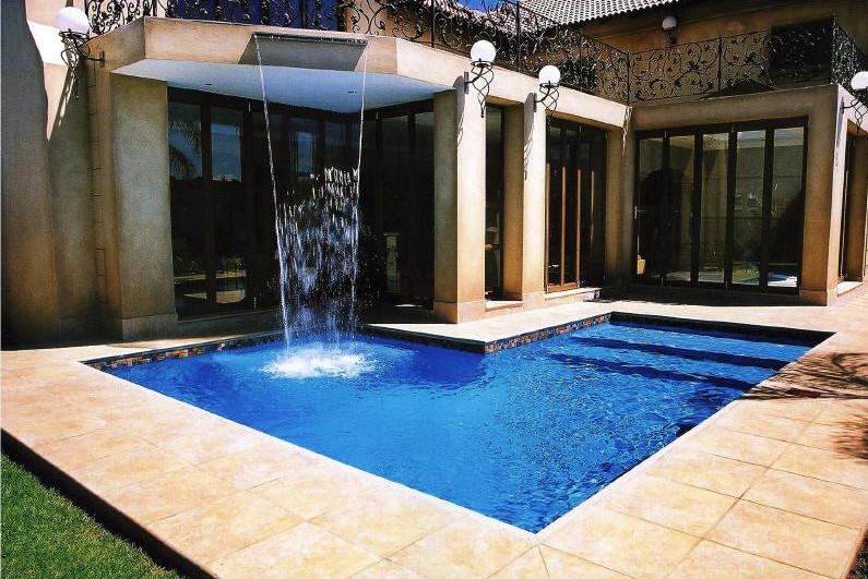 Inground Pool Designs With Waterfalls Swimming