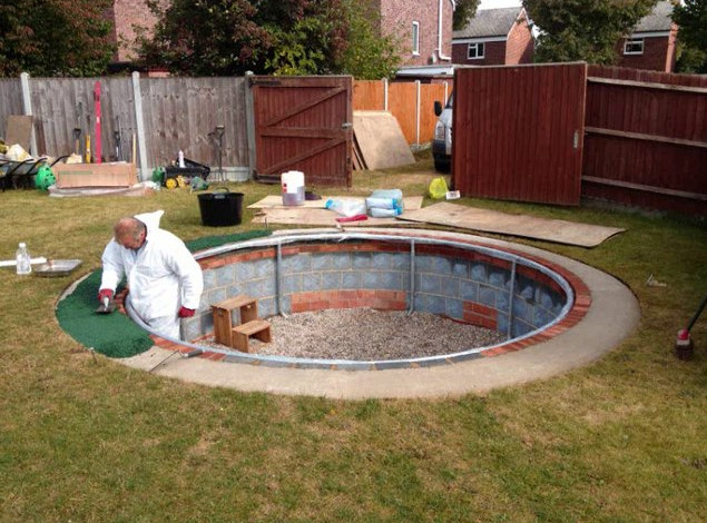 Three comparable ideas to make diy inground pools at home for Diy pool house plans