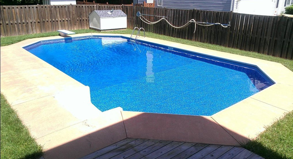 Inground swimming pool construction pool design ideas for In ground pool contractors