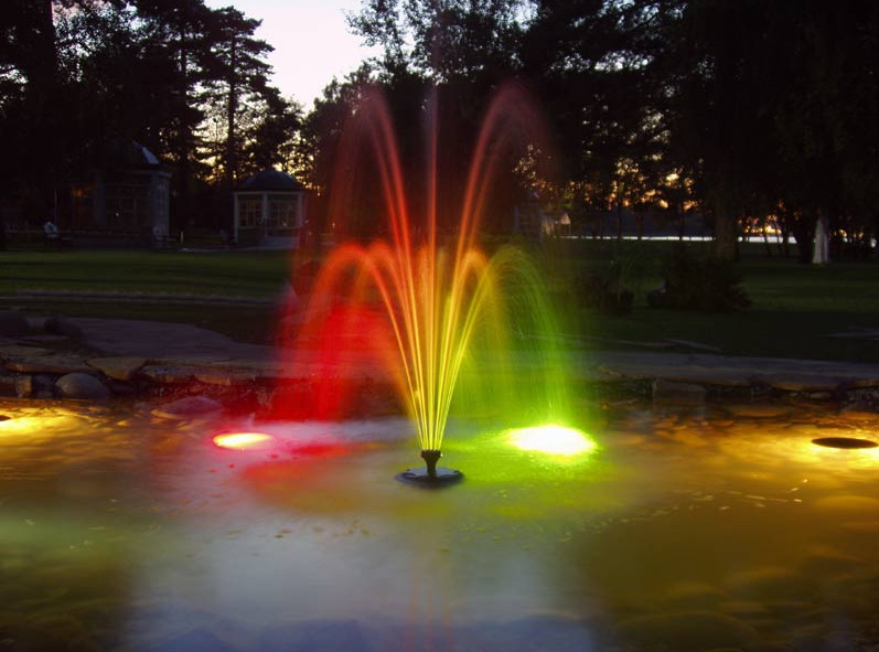 Lighted Outdoor Water Fountains