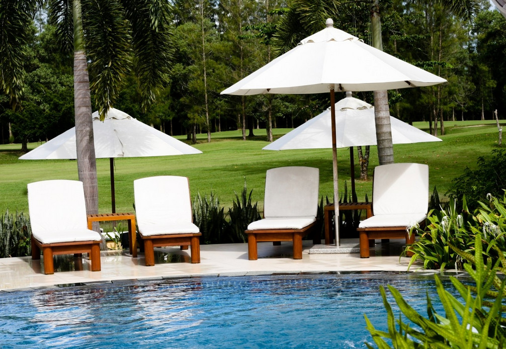 luxury outdoor pool furniture pool design ideas