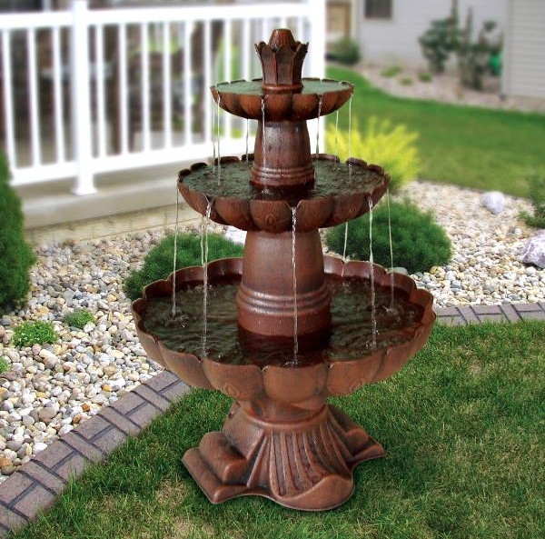 Outdoor garden water fountains ideas pool design ideas for Backyard water fountain ideas