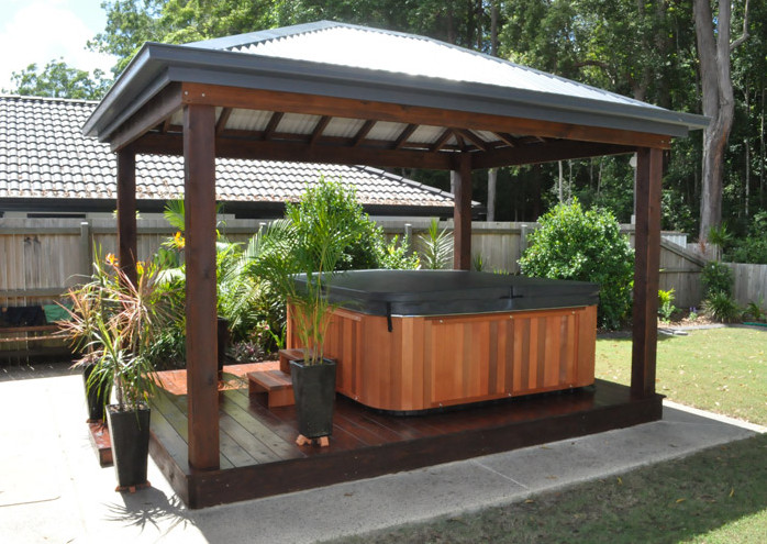 Patio Design Ideas With Hot Tub