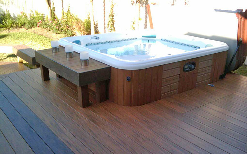 outdoor jacuzzi designs and layouts pool design ideas. Black Bedroom Furniture Sets. Home Design Ideas