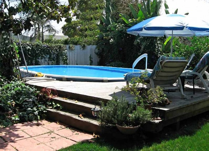 Partial Inground Above Ground Pools