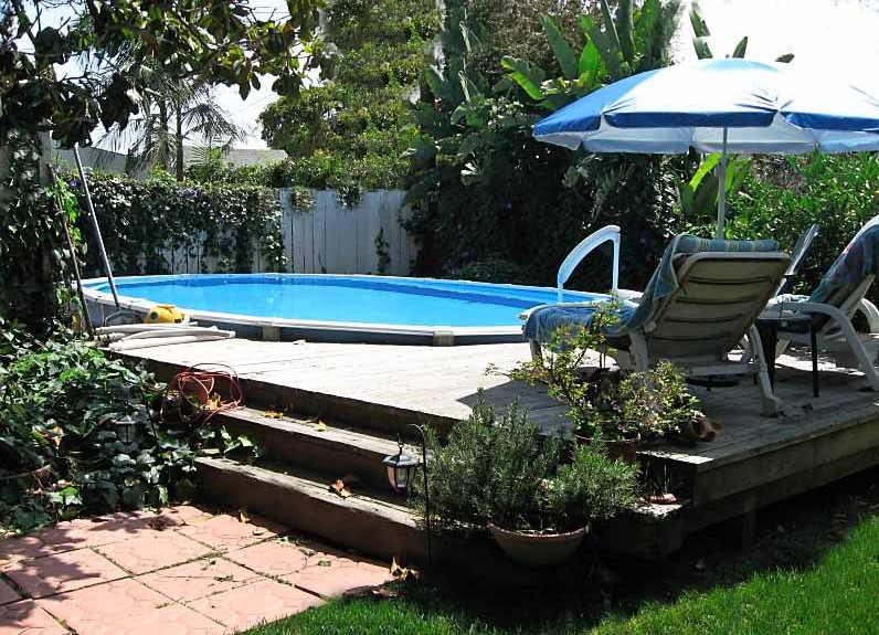Partial Inground Above Ground Pools