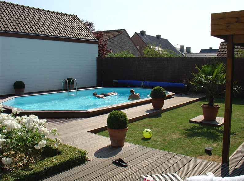 Delicieux Pictures Of Semi Inground Pools With Decks