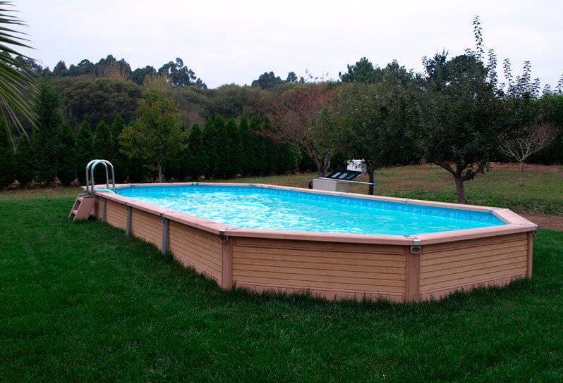 Semi inground pools pools give you the best of both types for Types of inground pools