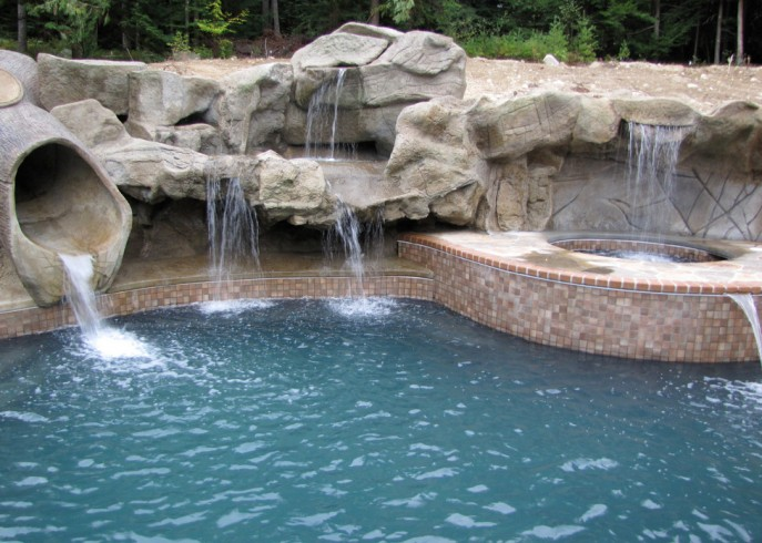 Pool Waterfall Design Ideas