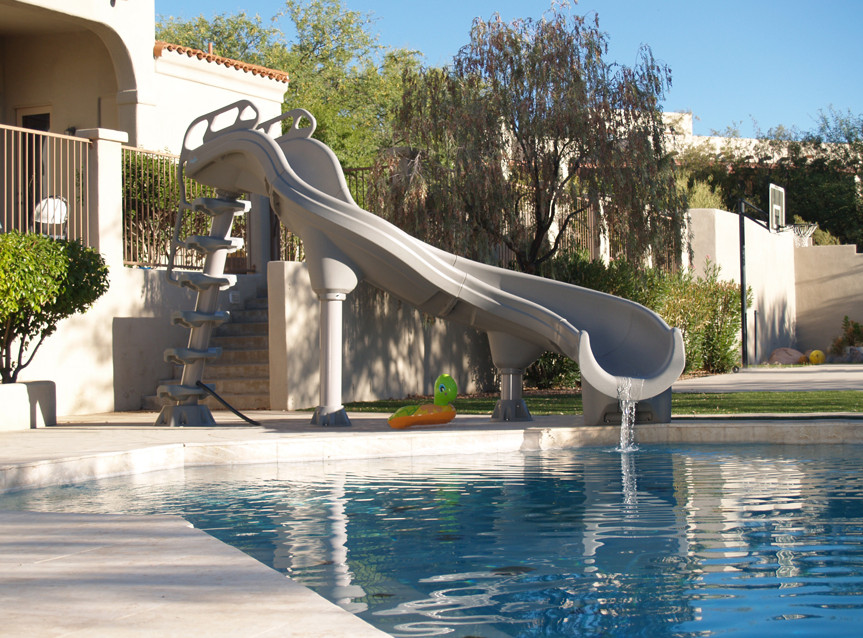 Portable swimming pool slides pool design ideas for Swimming pool slides