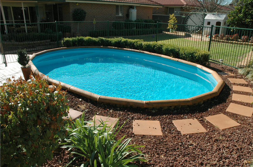Putting above ground pool inground pool design ideas Cheap pool landscaping ideas