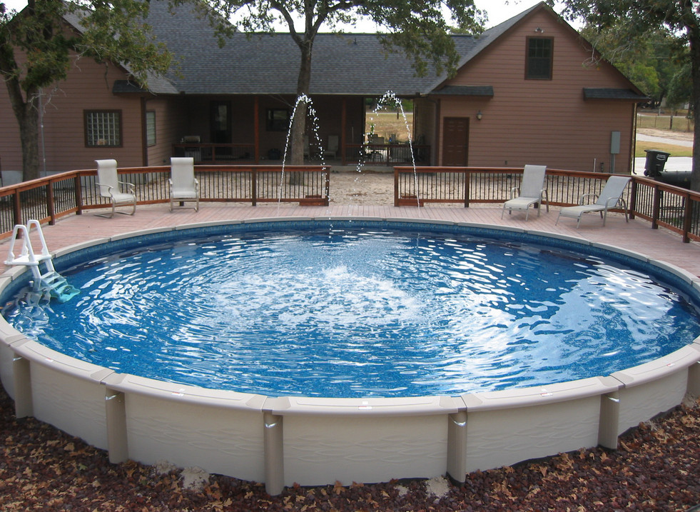 Putting an above ground pool inground pool design ideas for Images of inground swimming pools