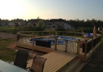 Semi Inground Pool Deck Ideas