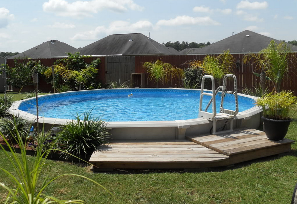 Semi Inground Pool Images Design Ideas