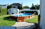 Semi Inground Pool Landscape Ideas