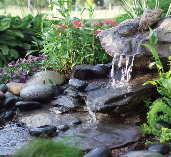 Yard Pond Waterfall Ideas. ponds landscape yard pond ideas backyard ...