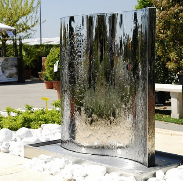 small water fountains outdoor pool design ideas