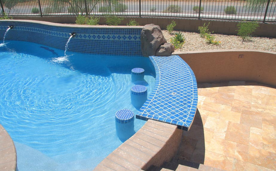 Swim up pool bar designs pool design ideas for Pool design swim up bar
