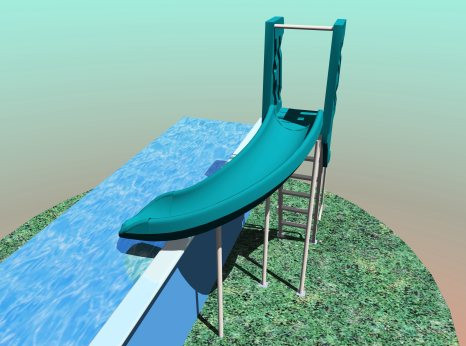 Swimming Pool Slides for Above Ground Pools