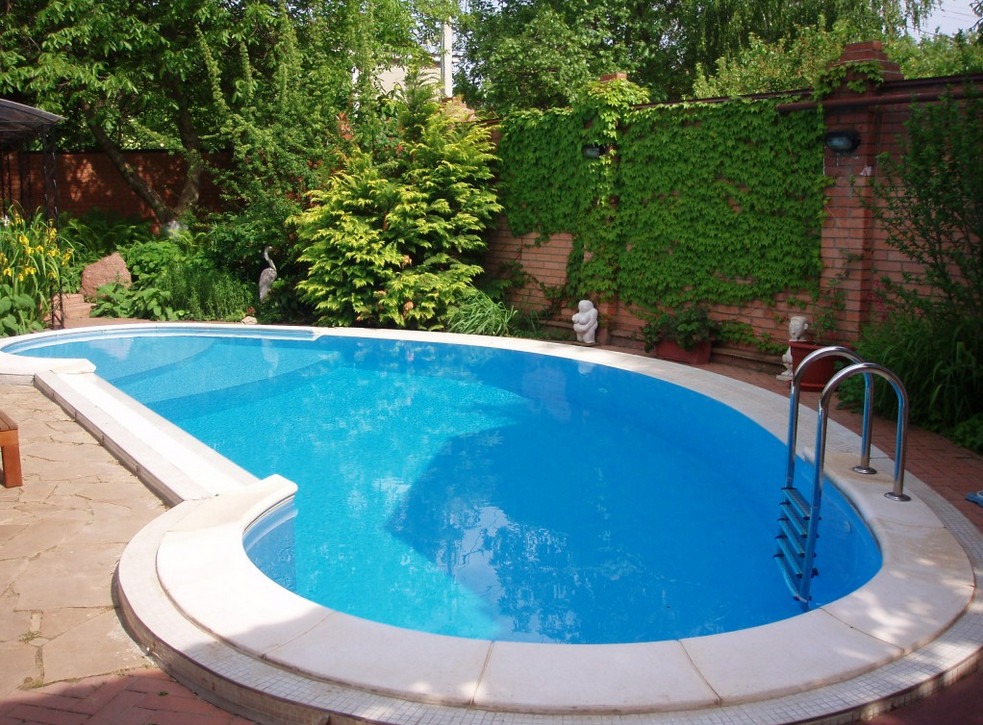Steel wall vinyl liner seasonal world what type of for Underground swimming pool designs